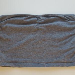 grey long bandeau tube top size medium